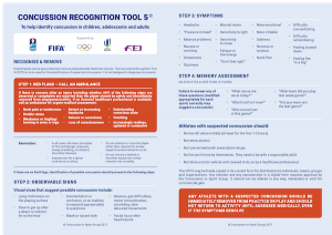 Concussion recognition tool